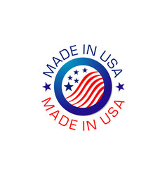 icon made in usa tag vector image
