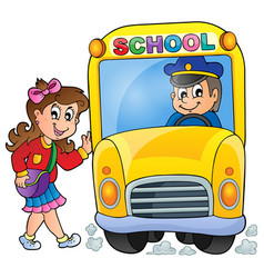 Image with school bus theme 7 vector