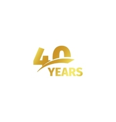 Isolated abstract golden 40th anniversary logo vector