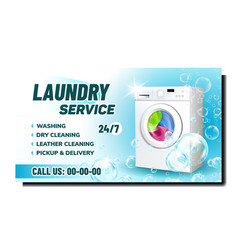 laundry service creative advertising banner vector image