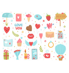 love and friendship icons happy community and vector image