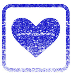 Love heart framed textured icon vector