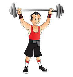 Man doing weightlifting vector