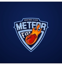 Meteor Fist Abstract Sport Emblem or Logo vector image