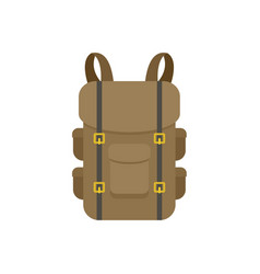 military backpack icon flat style vector image