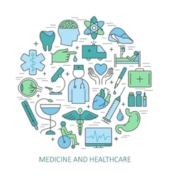 Modern of thin linear concept on a theme medicine vector image