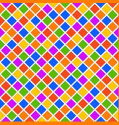 multicolor rhomb seamless pattern vector image