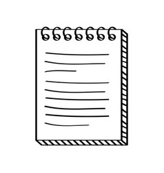 notebook paper document icon vector image