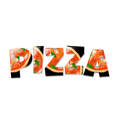 Pizza in text- vector