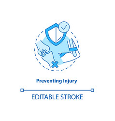 Prevent injury turquoise concept icon vector
