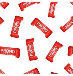 promo ribbon hang tag seamless pattern background vector image