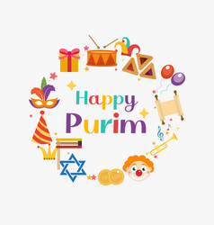 Purim frame template with space for text isolated vector
