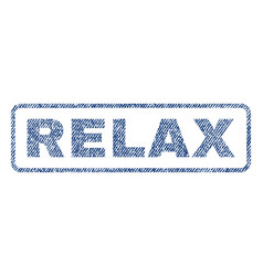 Relax textile stamp vector