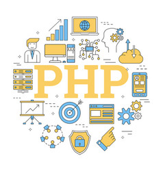 Round linear concept php vector