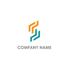 s initial line abstract company logo vector image