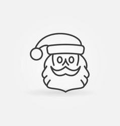 santa claus face outline icon vector image