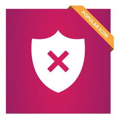 Shield remove icon vector