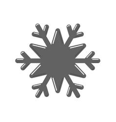 Snowflake gray icon cartoon snow flake sign vector