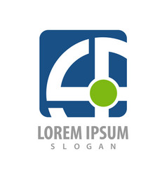 square rotate line logo concept design symbol vector image