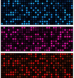 Squares technology pattern banners vector image