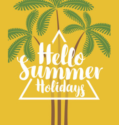 Summer tropical banner with palm trees vector