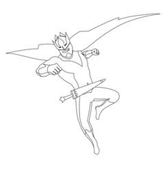 superhero for coloring book isolated comic book vector image