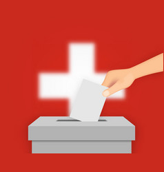 switzerland election banner background vector image