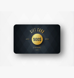 Template a premium gift card with a gold vector