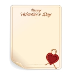 Valentines Day Letter with Seal vector image