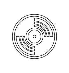 Vinyl music record icon outline style vector image
