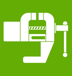Vise tool icon green vector