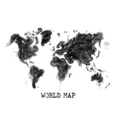 watercolor painting design world map vector image