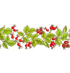 wild rose pattern vector image