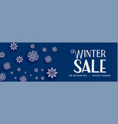 winter sale snowflakes bacnner design vector image