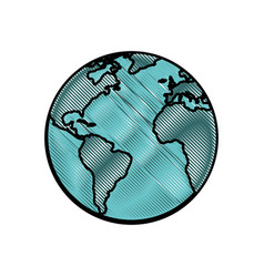World earth isolated vector