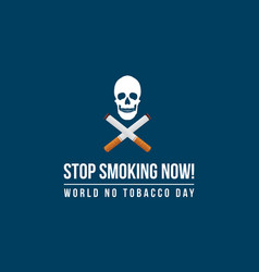 World no tobacco day banner style vector