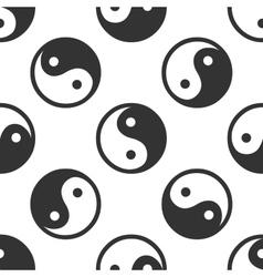 Yin yang symbol icon pattern on white background vector