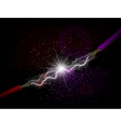 Conducting electricity vector image vector image