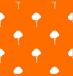 fluffy tree pattern seamless vector image vector image
