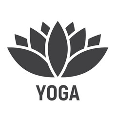 lotus glyph icon fitness and sport yoga sign vector image vector image