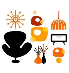 Retro furniture vector image vector image