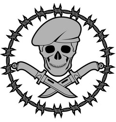 symbol of special forces second variant vector image vector image