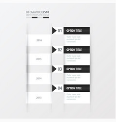 timeline black and white color vector image vector image