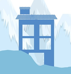 winter homes design vector image