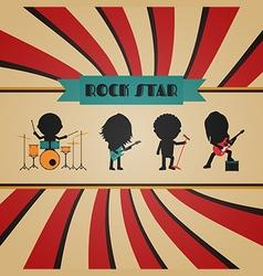 198retro rock band vector