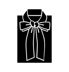 Female blouse sketch icon for web mobile and info vector image vector image