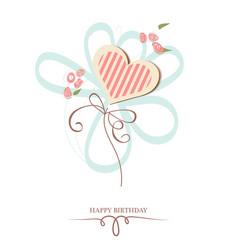 Happy birthday heart vector image vector image