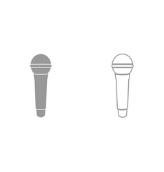 microphone it is black icon vector image vector image