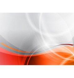 orange and grey wave abstract background vector image vector image