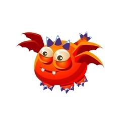 Orange Fantastic Friendly Pet Dragon With Four vector image